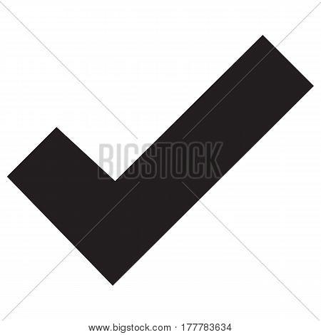 Write tick sign element icon,check mark vector check mark