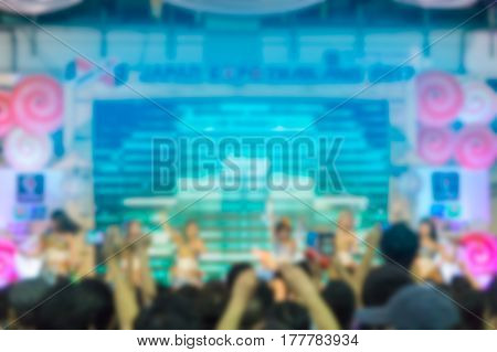 Abstract blurred . a crowd of people at a concert