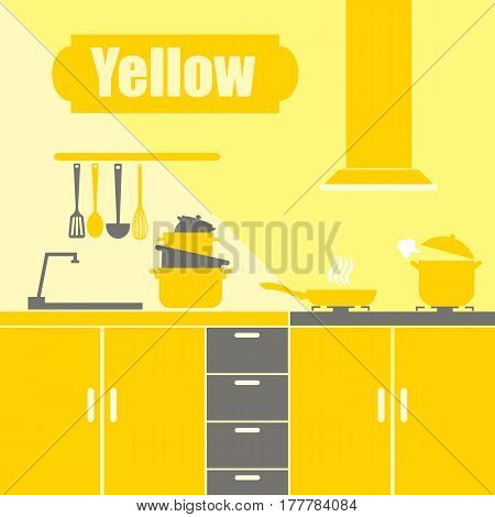 cook, illustration, set, design, icon, saucepan, plate
