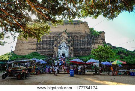 Pahtodawgyi Pagoda In Mingun, Myanmar