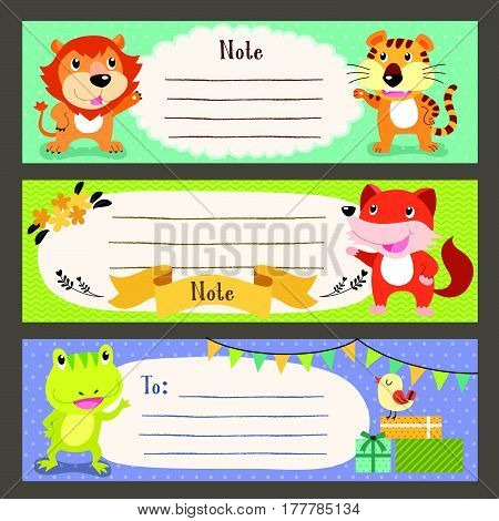 Lovable Diverse Animals Memo Paper