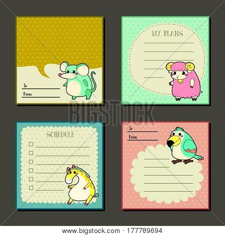 Adorable Animal Characters Memo Pads