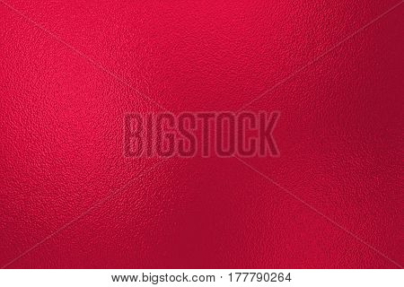 Red foil paper decorative texture background. Metallized paper