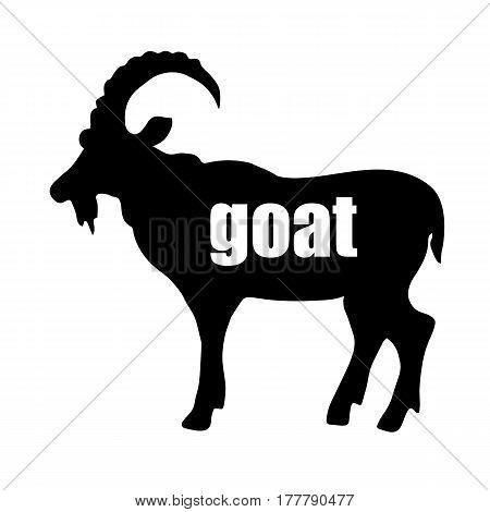 goat, illustration, animal, vector, icon, mammal, design, symbol, element, farm