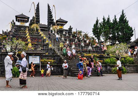 PURA BESAKIH, INDONESIA - SEPTEMBER 30, 2012: Pura Besakih Temple in Bali Island Indonesia