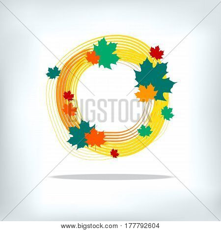 Colorful autumn leaves. Vector. Maple leaf. Grunge autumn leaves.