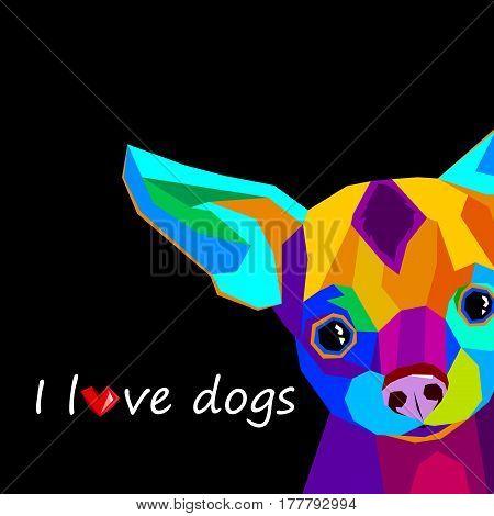 dog, vector, small, drawing, illustration, pet, animal