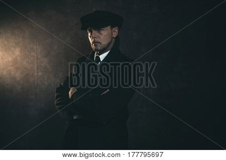 Retro 1920S English Gangster. Peaky Blinders Style.