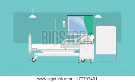 Sickroom vector illustration concepts for business, finance, marketing, internet marketing and e-commerce, promo, websites, print templates,   presentation templates, promotional materials, infographics, app and etc.