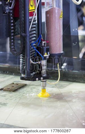 water jet metal cutting by cnc programing