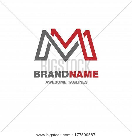 creative letter M logo, letter M Abstract business logo design template.