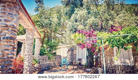 Old Thrown Cafe Authentic Beach Zanjic Adriatic Sea Montenegro