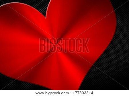 metal mesh with love shape