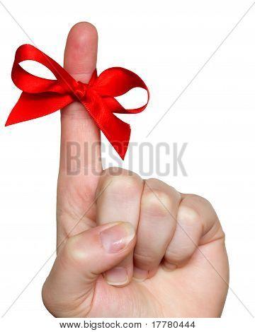 bow on finger