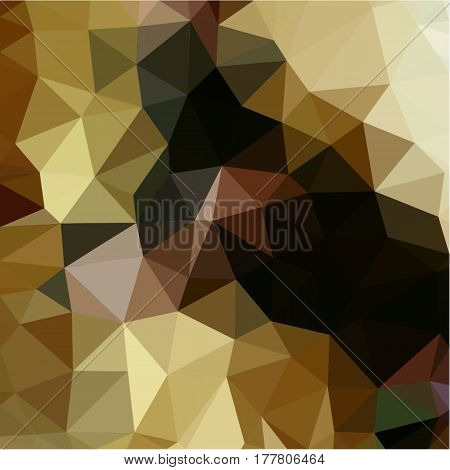 Abstract background of small triangles polygon gray and brown and beige fragments light and dark sharp throughout the drawing