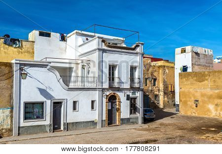 Buildings in the portuguese town of Mazagan, El Jadida - Morocco