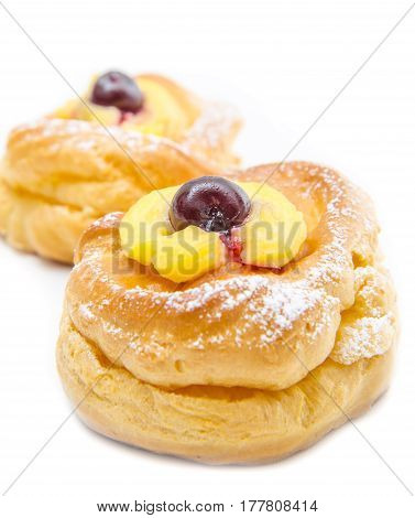 a sweet donuts isolated on white background