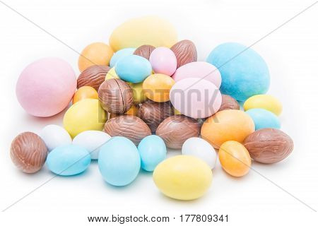 Group Of Easter Eggs
