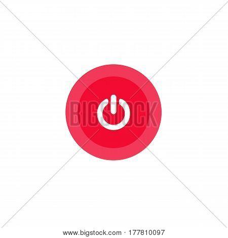 Illustration Icon Power In Circle On Flat Design
