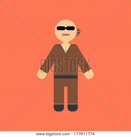 flat icon on stylish background poker male guard