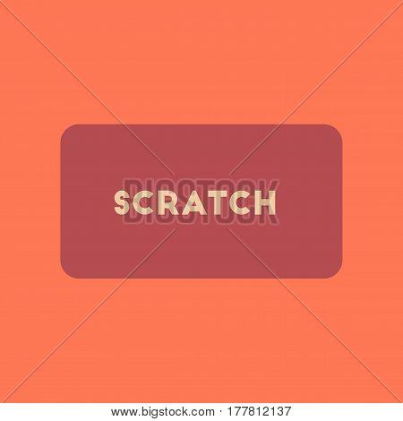 flat icon on stylish background poker scratch card