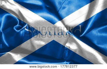 Map Of Scotland With Country Name On It 3D Illustration