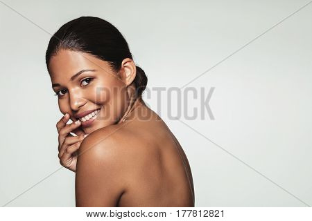 Happy Young Woman With Healthy Skin