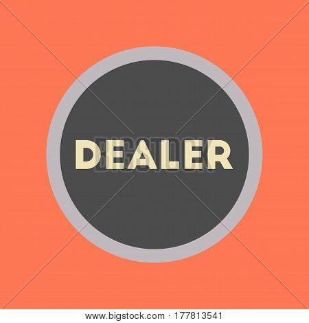flat icon on stylish background poker chip dealer