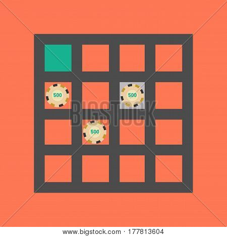 flat icon on stylish background game poker table