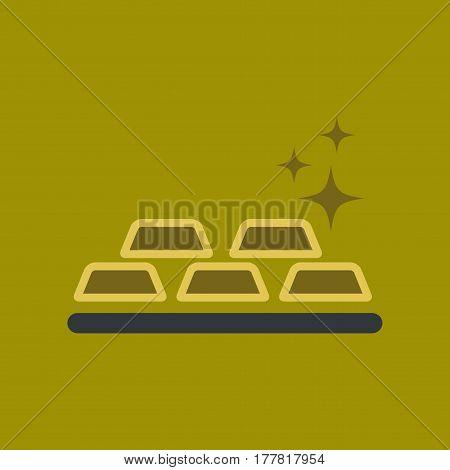flat icon on stylish background poker gold bullion
