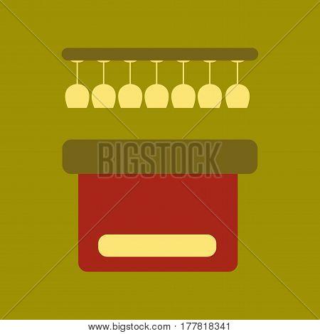 flat icon on stylish background pub bar