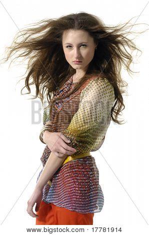 Beautiful elegance fashion model posing