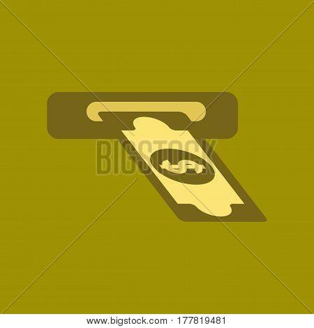 flat icon on stylish background dollar money