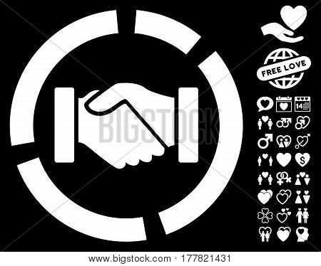 Handshake Diagram Vector Photo Free Trial Bigstock