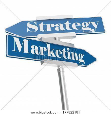 Marketing And Strategy Signs