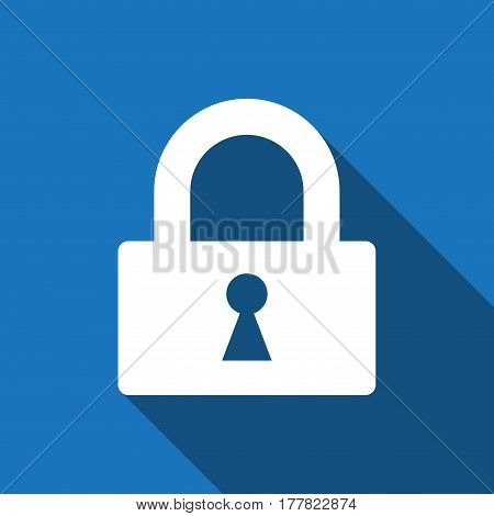 lock icon stock vector illustration flat design