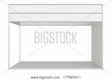 Empty exhibition stand. 3d rendering on white background.
