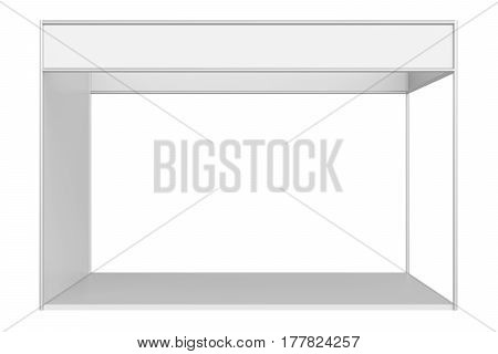 3D rendering Trade Booth system Standard isolated on white background