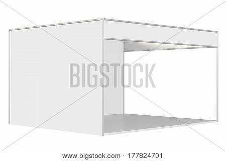Booth for customizing advertising design stand. 3d rendering