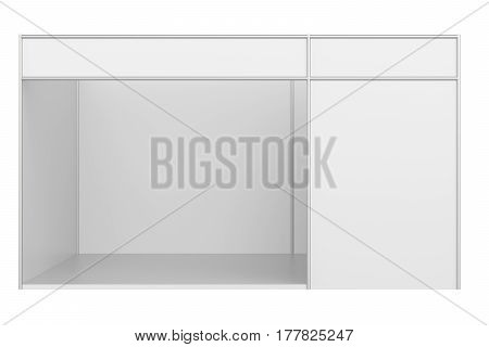 Exhibition stand design. Template corporate identity. 3d endering