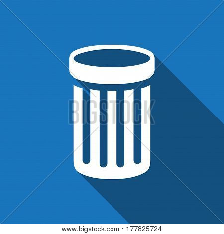trash bin icon stock vector illustration flat design