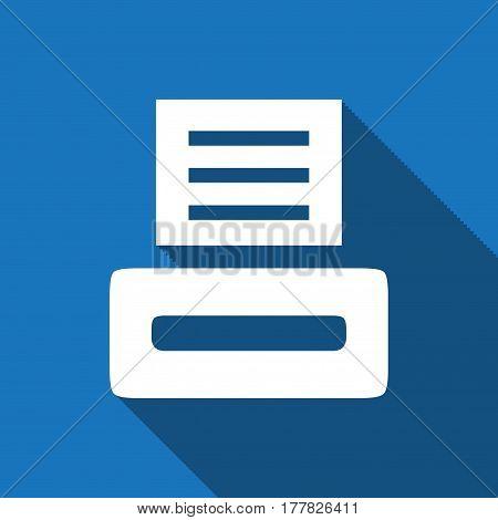 print icon stock vector illustration flat design