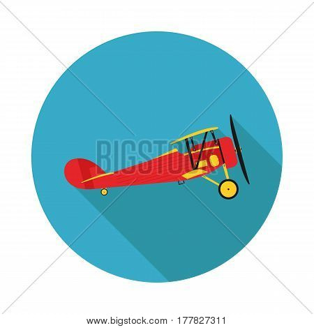 flat icon aircraft biplane in vector format