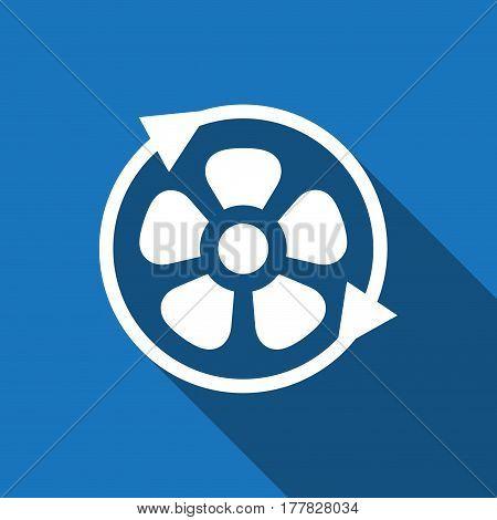 fan air propeller icon stock vector illustration flat design