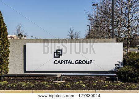 Carmel - Circa March 2017: Signage and Logo of the Capital Group. With $1.39 trillion in assets Capital Group is one of the largest investment management organizations I