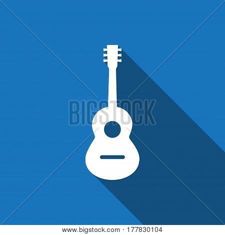 Acoustic guitar sign icon. Music symbol. stock vector illustration flat design