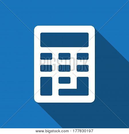 Calculator icon stock vector illustration flat design