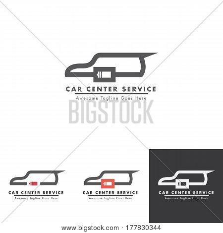Car battery logo design for car electricity service shop