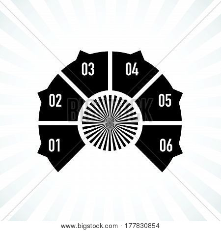 a black and white segment numbers background