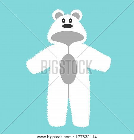 Romper suit. Rompers with ears. Rompers bear. For girls and boys. Vector illustration.
